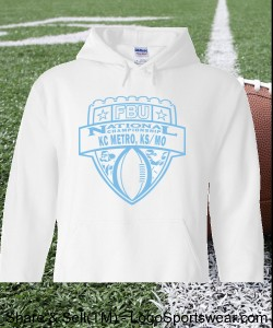 KC Metro, KS/MO - White Hoodie with Light Blue Design Zoom