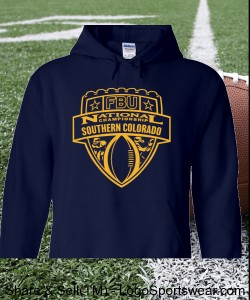 Southern Colorado - Navy Hoodie with Gold Design Zoom
