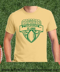St. Louis - Vegas Gold Tee with Green Design Zoom