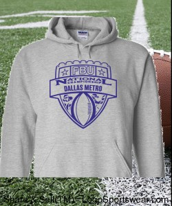 Dallas Metro - Sport Grey Hoodie with Purple Design Zoom