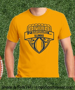 Illinois - Gold Tee with Navy Design Zoom