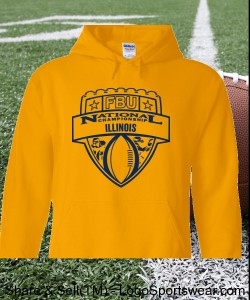 Illinois - Gold Hoodie with Navy Design Zoom