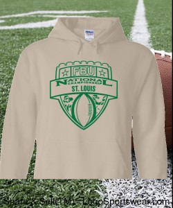 St. Louis - Sand Hoodie with Green Design Zoom