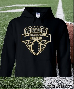 Oklahoma - Black Hoodie with Vegas Gold Design Zoom