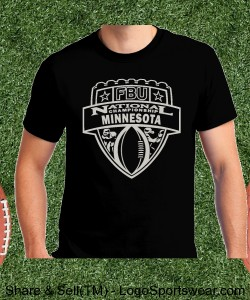 Minnesota - Black Tee with Silver Design Zoom