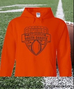 South Dakota - Orange Hoodie with Maroon Design Zoom