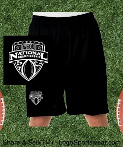 National Championship Mesh Shorts Design Zoom